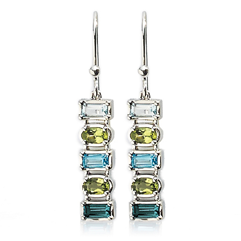 Gump's Swiss Blue Topaz & Peridot Earrings