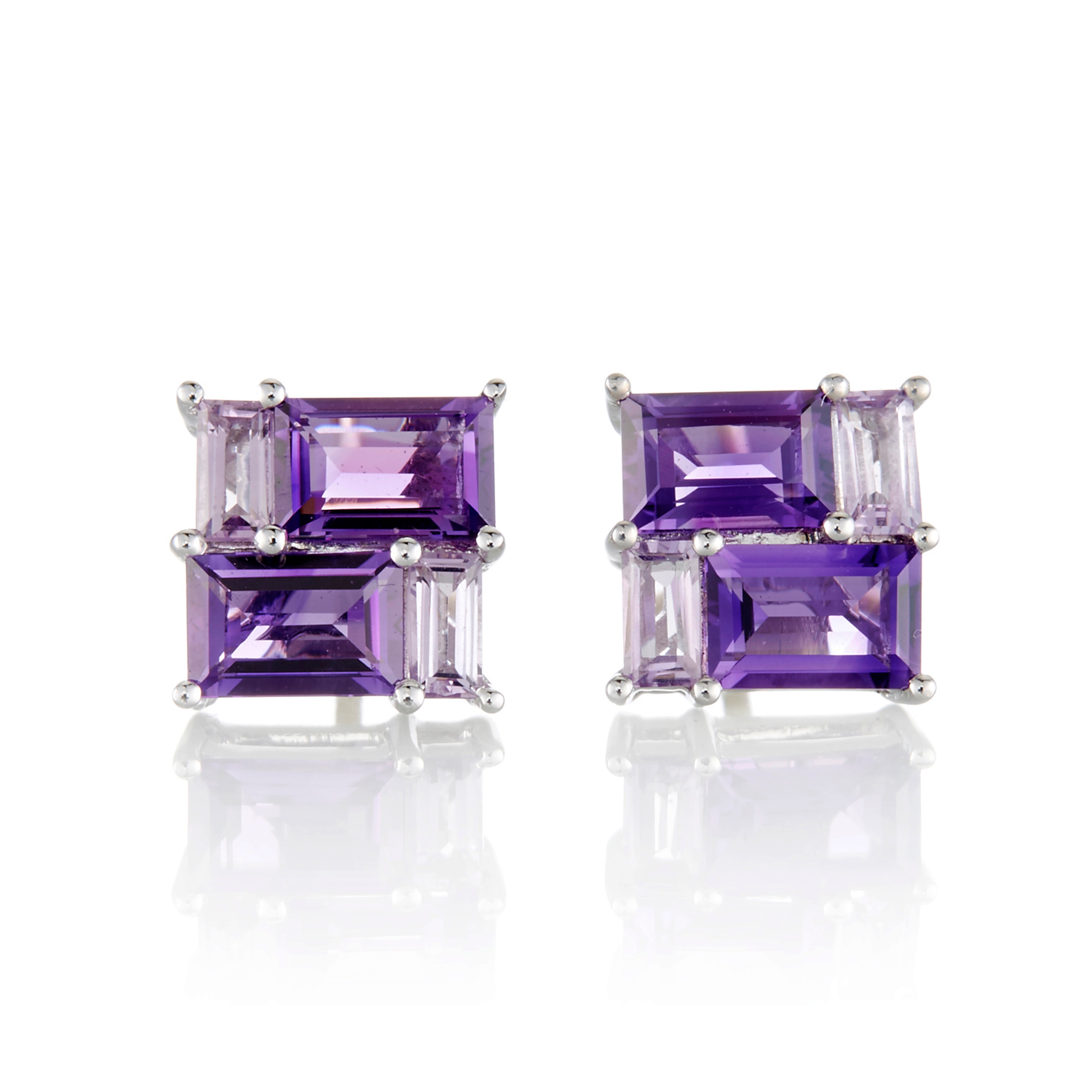 Gump's Amethyst Mosaic Stud Earrings