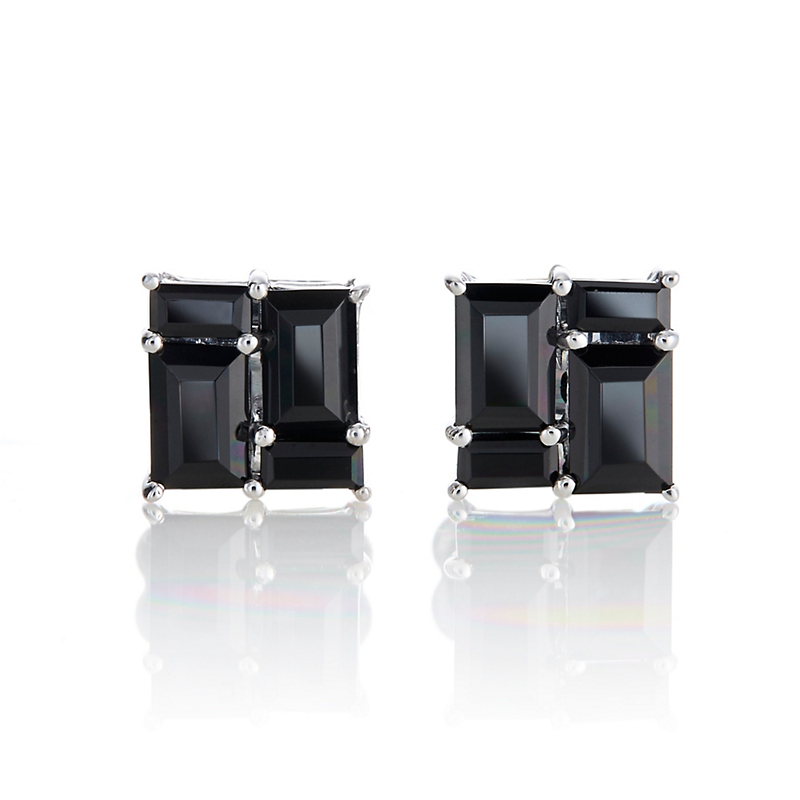 Gump's Onyx Mosaic Stud Earrings