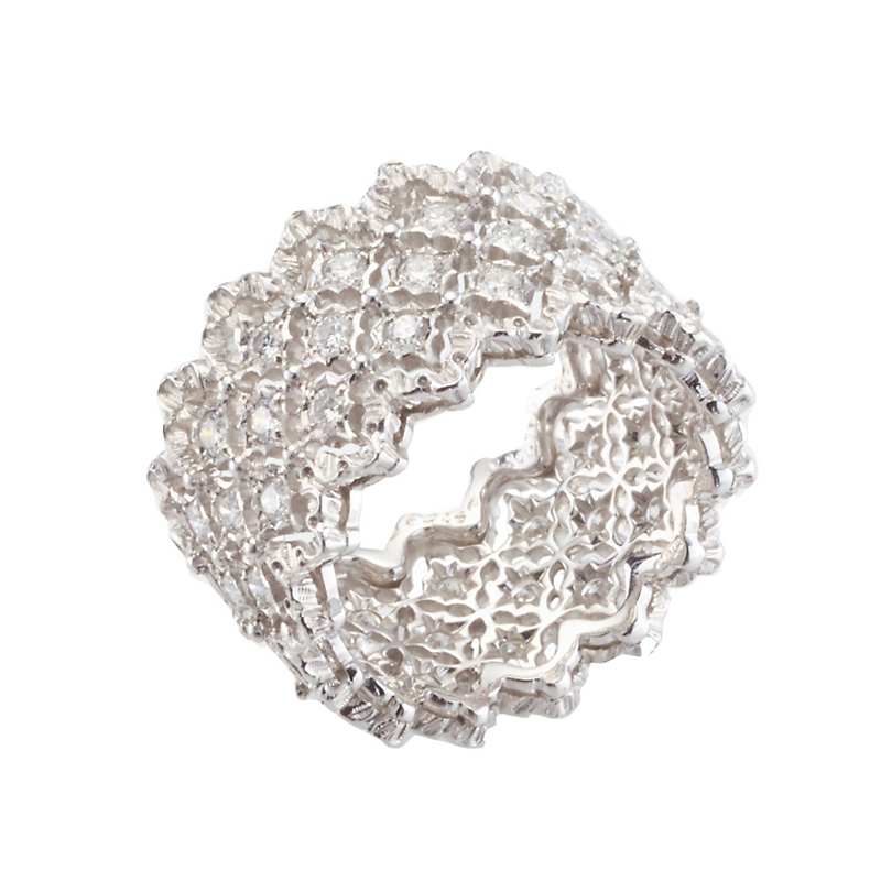 Buccellati Rombi Diamond Band Ring