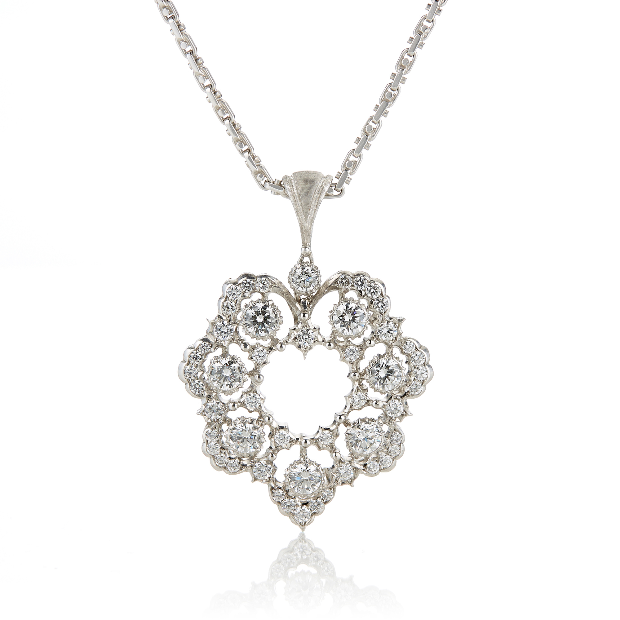 Buccellati Diamond Ghirlanda Pendant Necklace