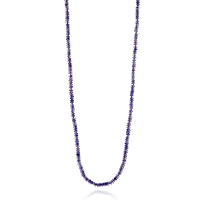 Gump's Faceted Iolite Rope Necklace
