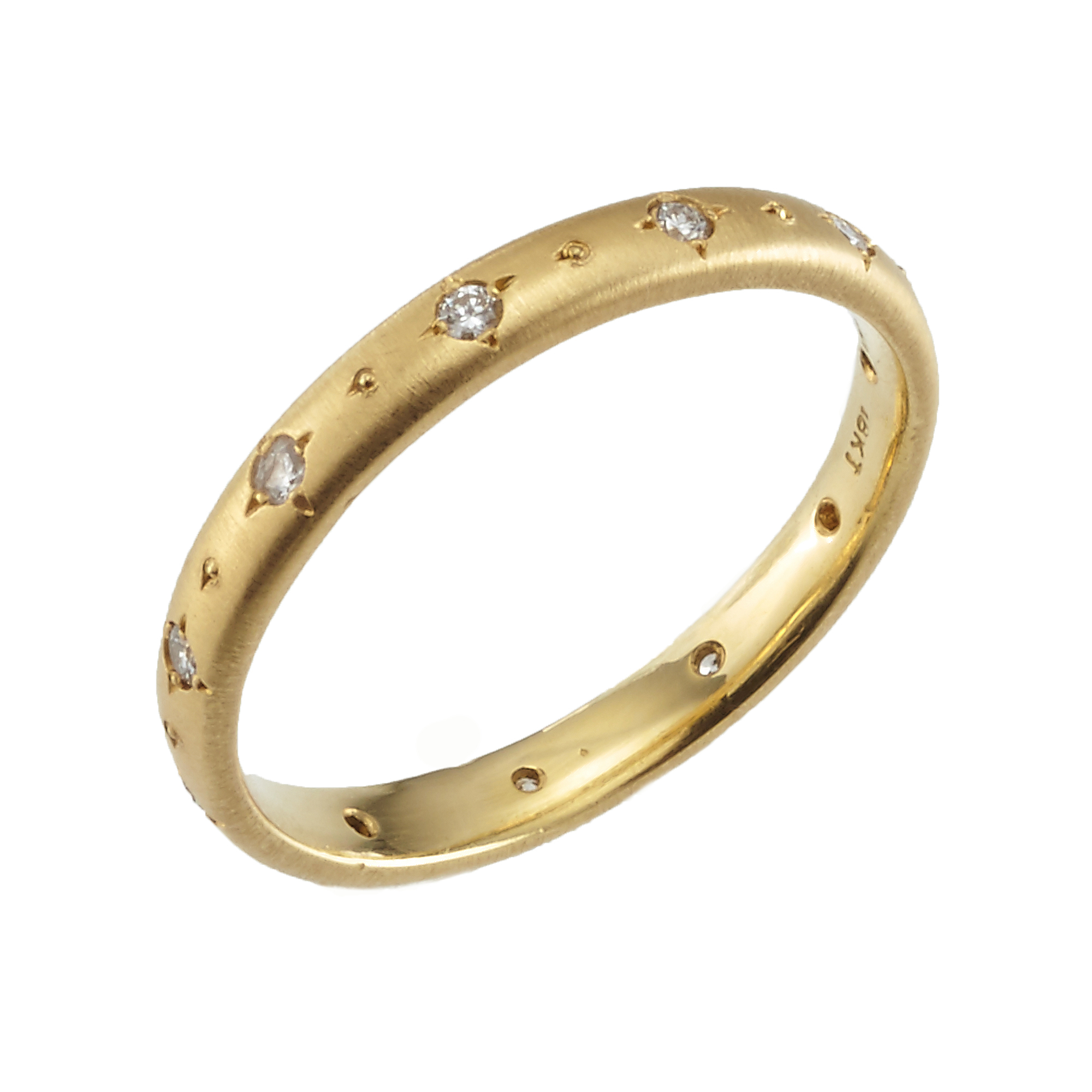 Adel Chefridi Stepping Stone Diamond and Gold Ring