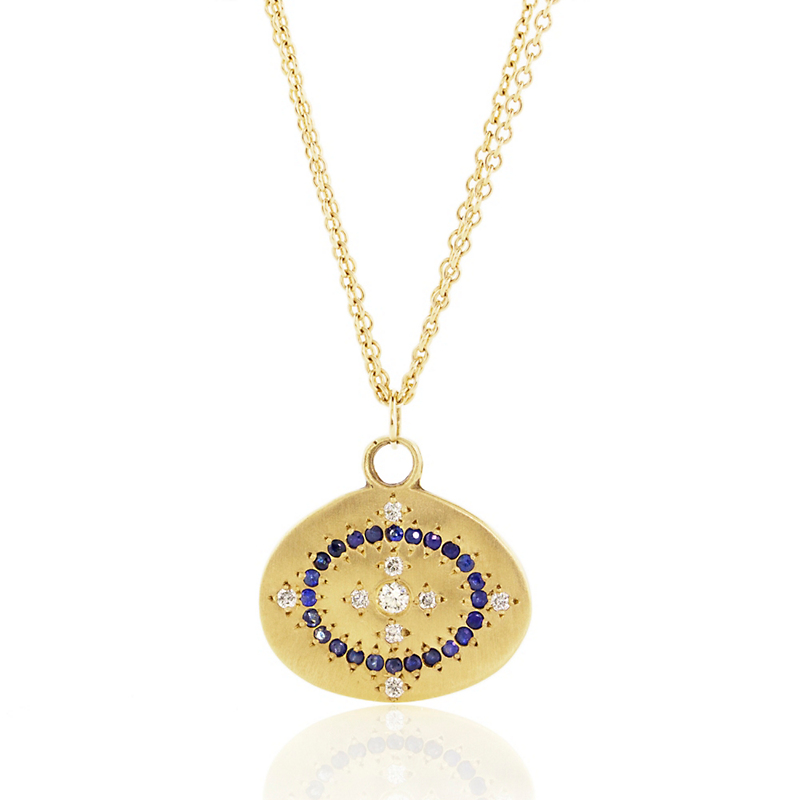 Adel Chefridi Heaven on Earth Sapphire and Diamond Floret Pendant Necklace