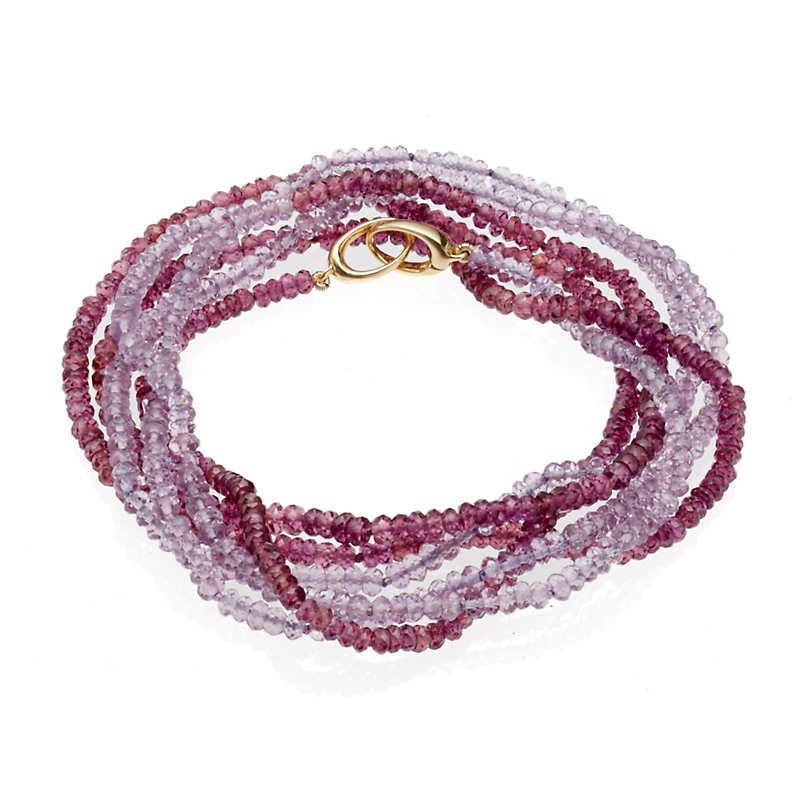 Gump's Faceted Amethyst and Garnet Wrap Bracelet