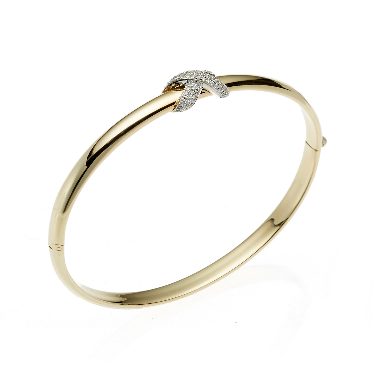 Pavé Diamond Knot Bangle