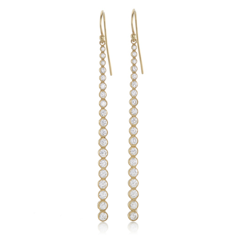 Kothari Diamond Constellation Linear Drop Earrings
