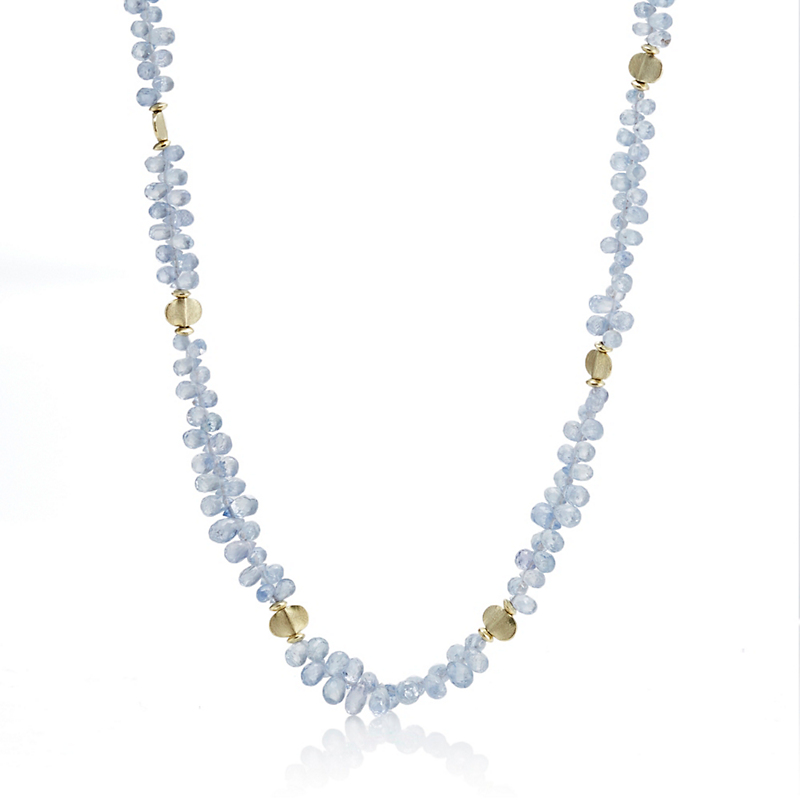 Barbara Heinrich Light Blue Sapphire Briolette Necklace