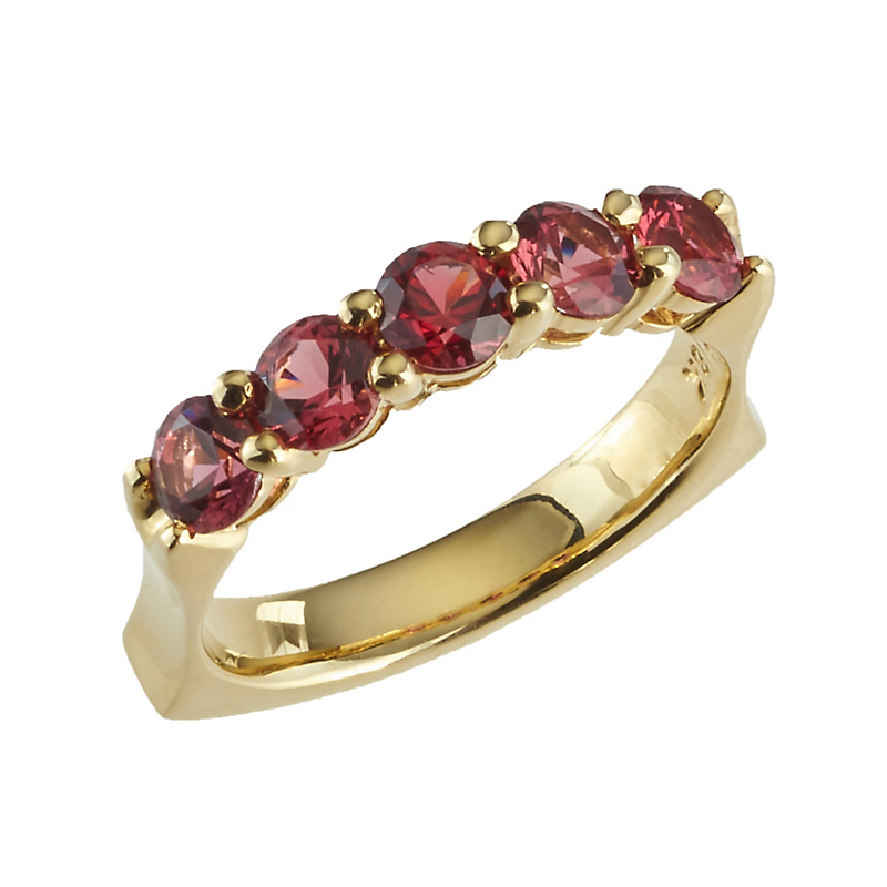 Aaron Henry Red Spinel Concave Ring