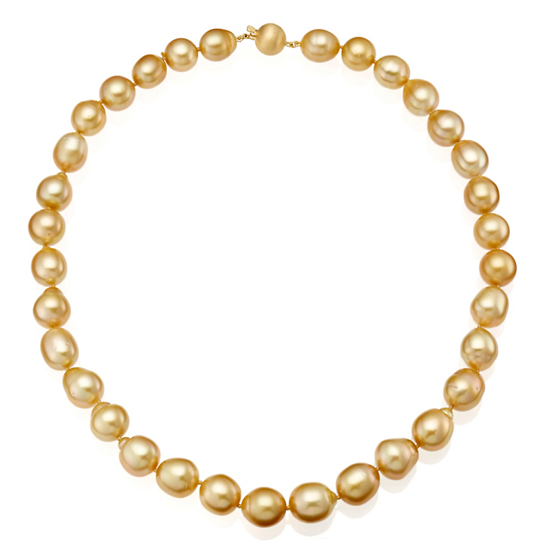 Gump's Golden South Sea Baroque Pearl Necklace