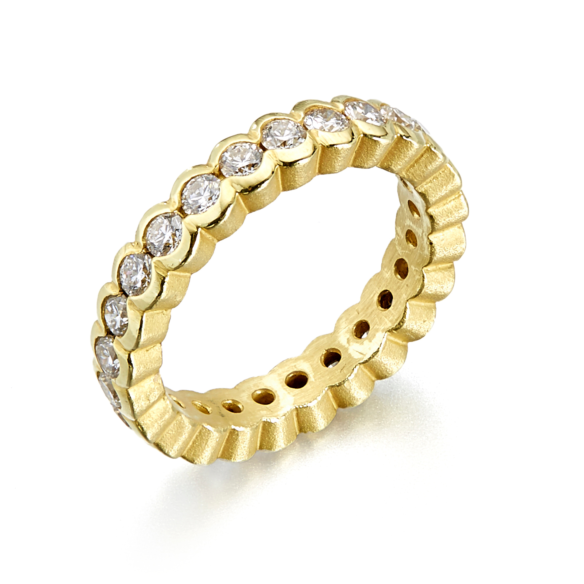 Barbara Heinrich Diamond Gold Large Circles Eternity Band