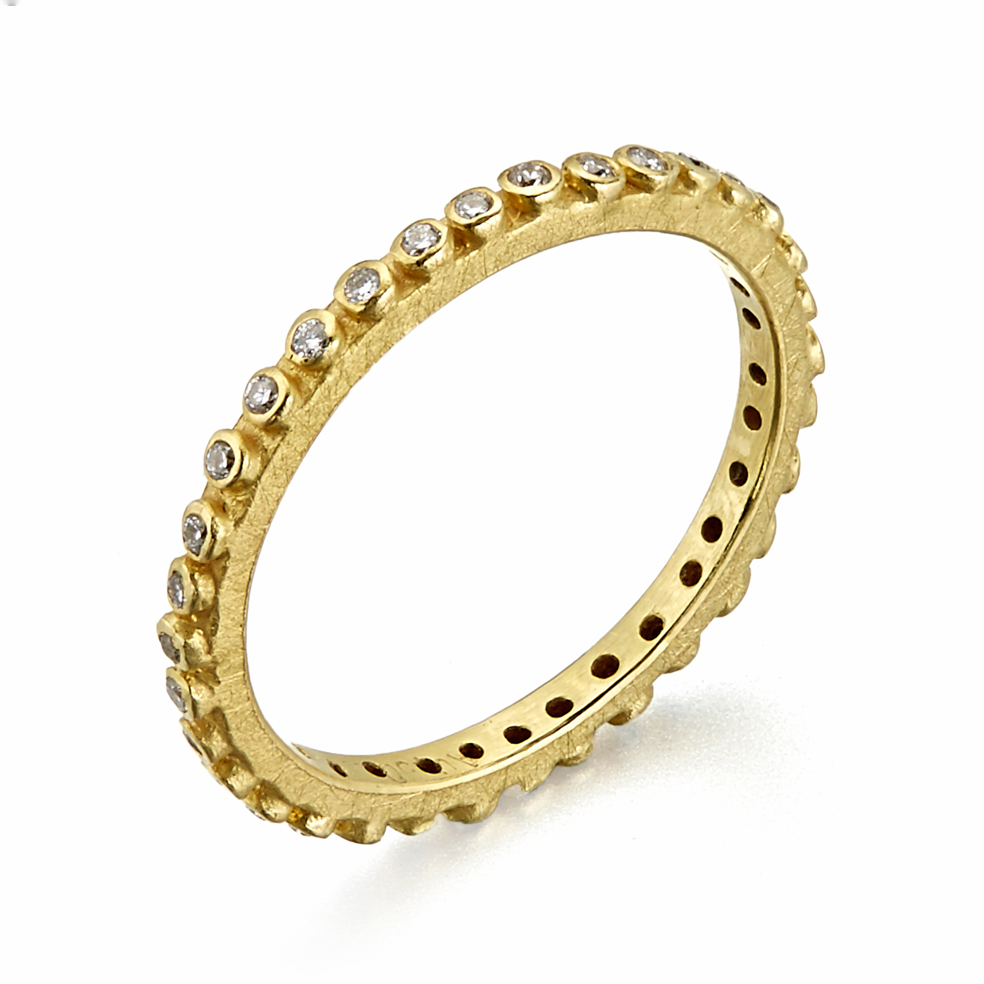 Barbara Heinrich Diamond Gold Pins Eternity Band