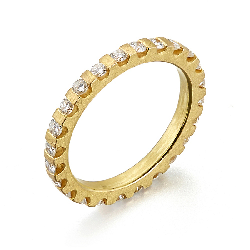 Barbara Heinrich Diamond Gold Gear Eternity Band Ring