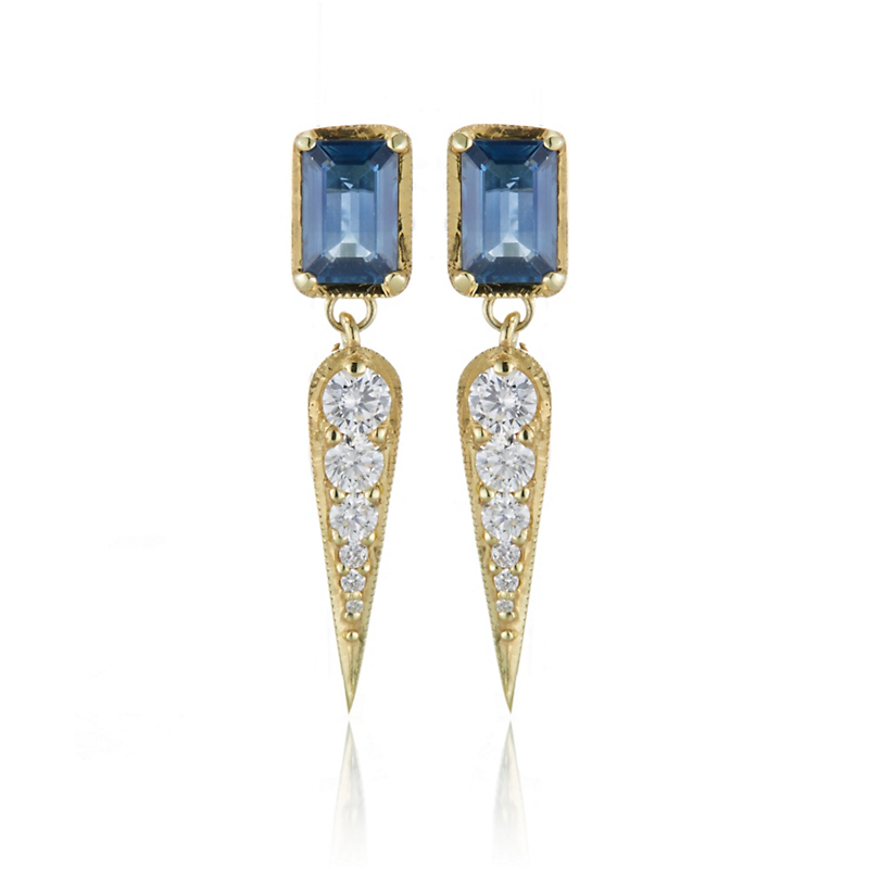 ILA Claude Sapphire and Diamond Earrings