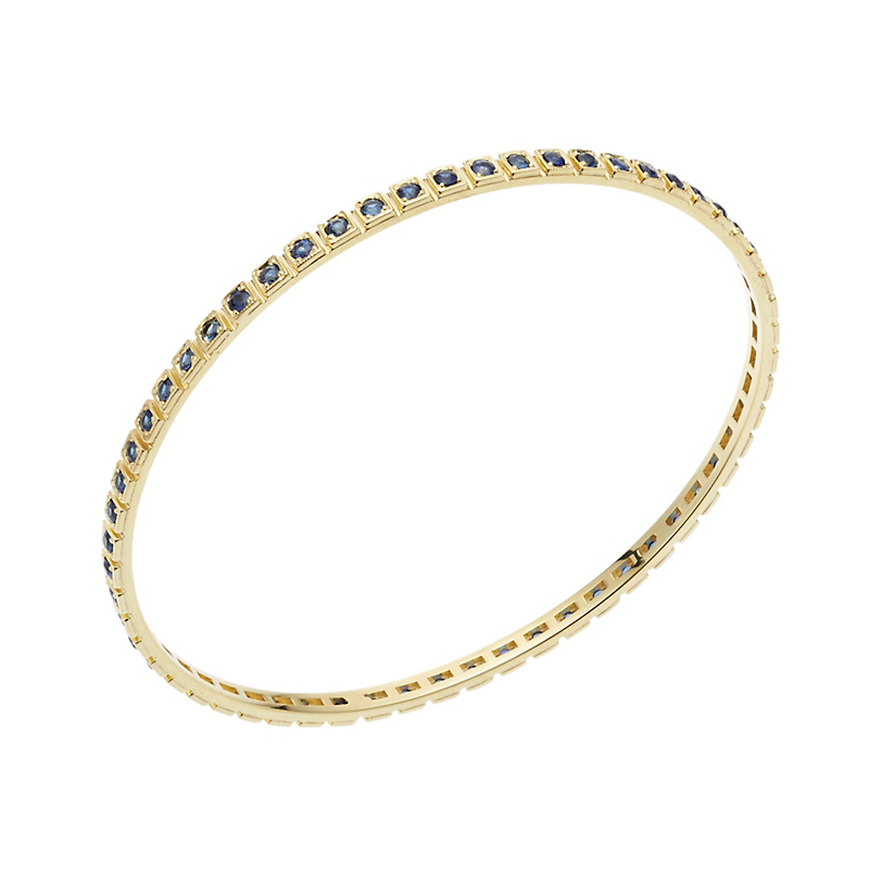 ILA Makayna Sapphire and Gold Bangle