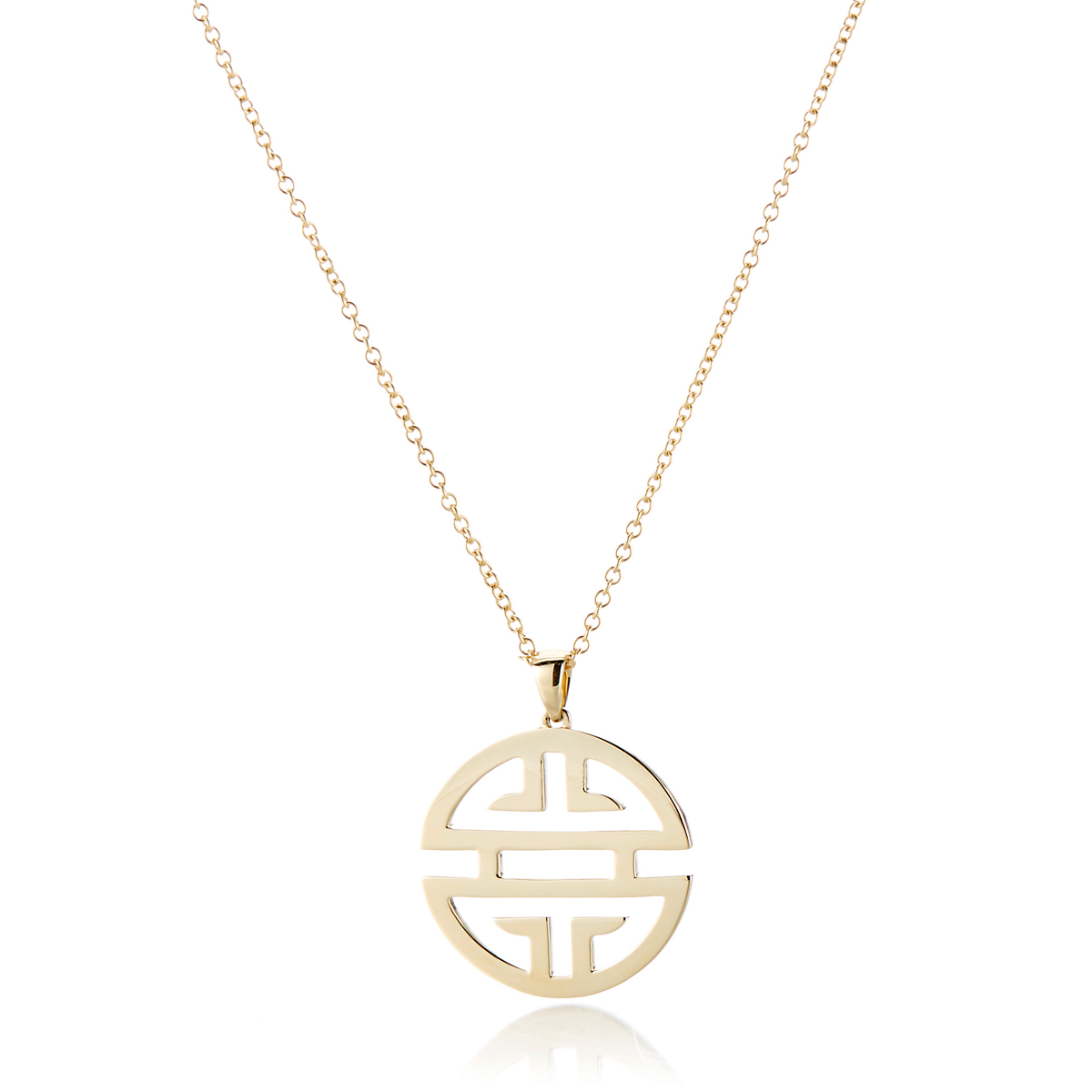 Gump's Shou Gold Large Pendant Necklace