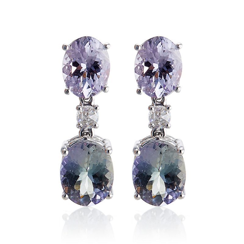 Gump's Tanzanite & Diamond Drop Earrings