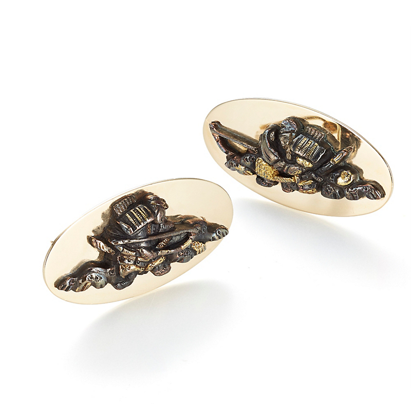 Gump's Warrior With Longbow Antique Menuki Cufflinks