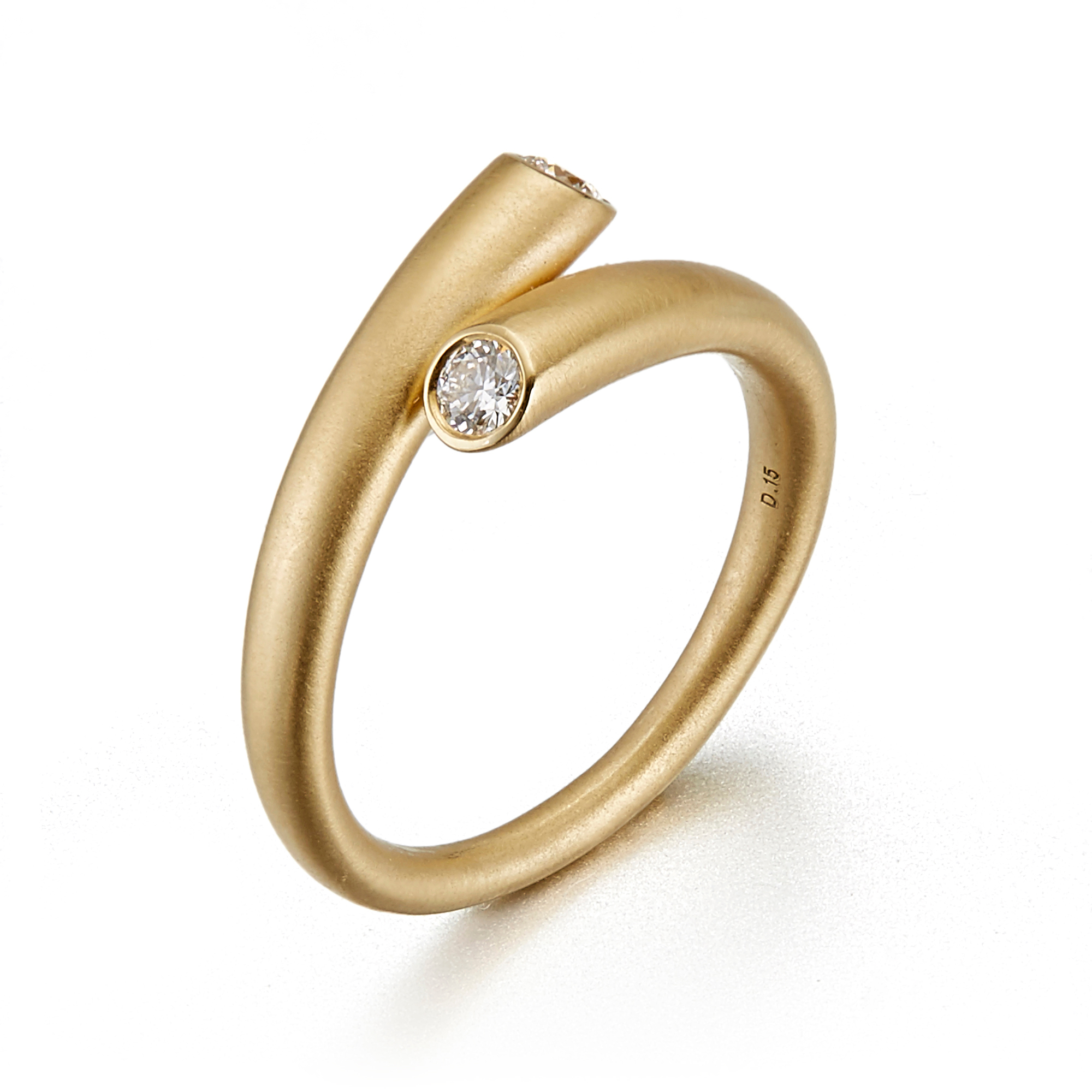 Carelle Single Whirl Diamond Ring