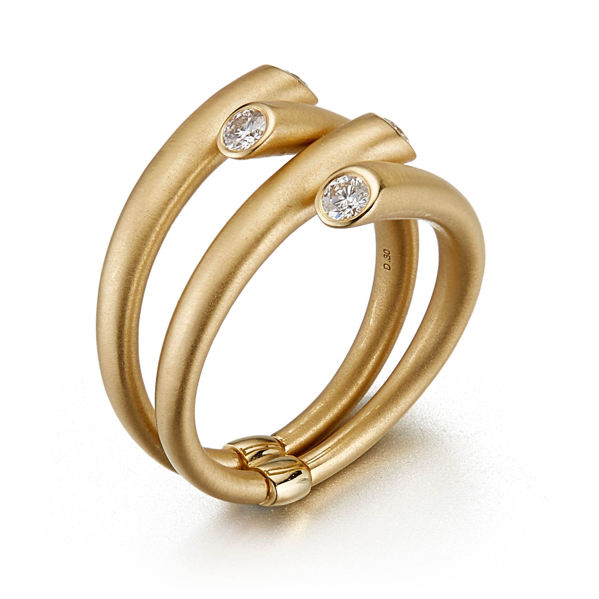 Carelle Double Whirl Diamond Ring