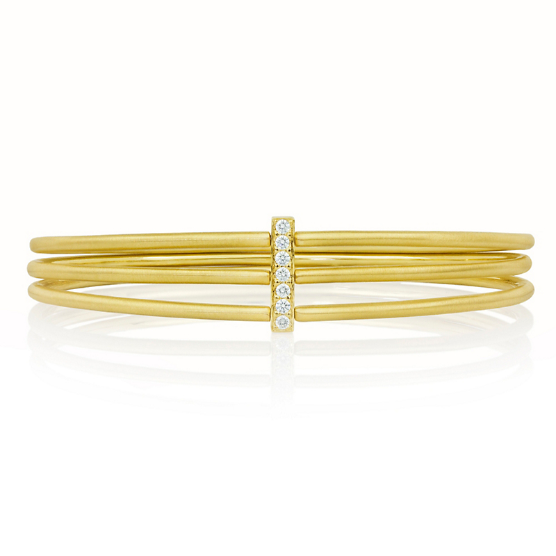 Carelle Diamond Moderne Bangle