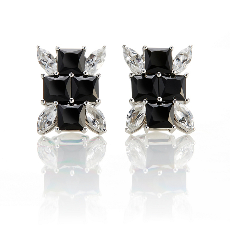 Gump's White Topaz & Spinel Burst Earrings
