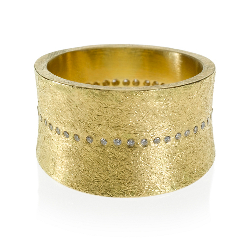 Todd Reed Wide Diamond Line Ring