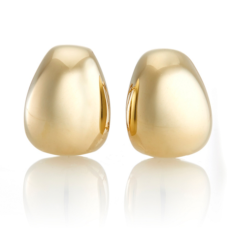 Wide Tapered Gold Cuff Earrings