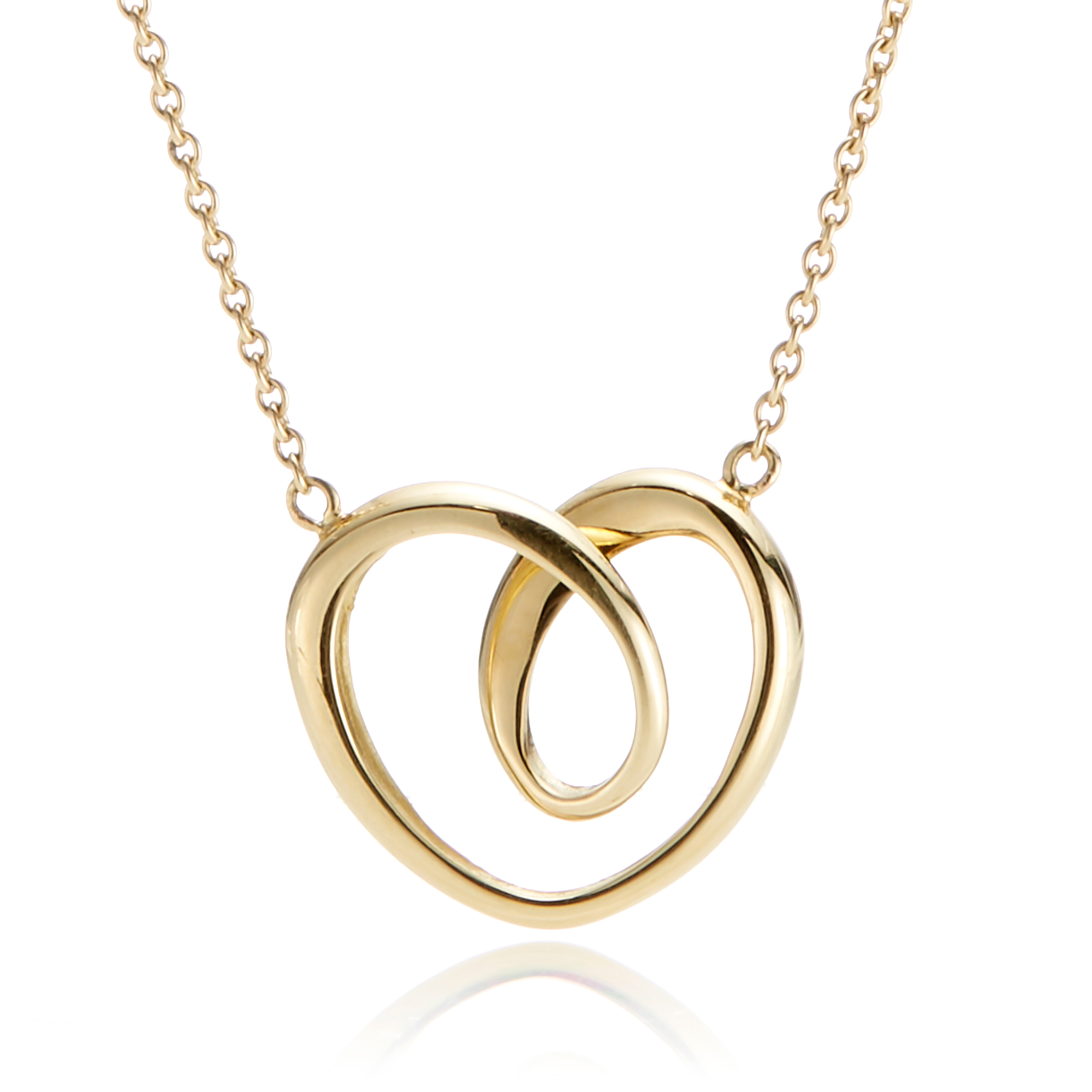 Georg Jensen Large Gold Heart Necklace