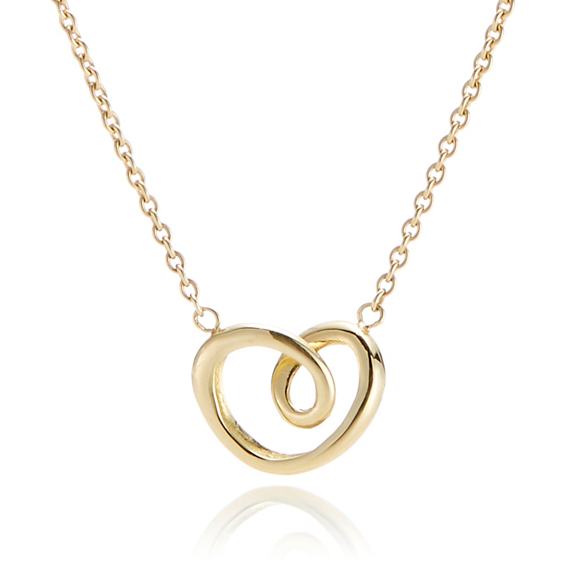 Georg Jensen Petite Gold Heart Necklace