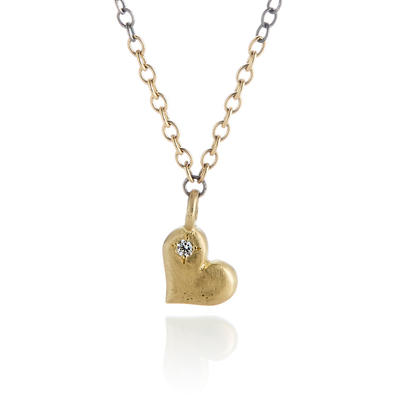 Adel Chefridi Petite Heart Pendant Diamond Necklace