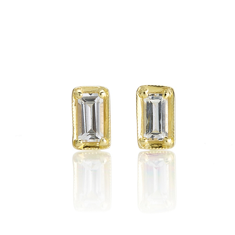 ILA Leone Petite White Sapphire Earrings