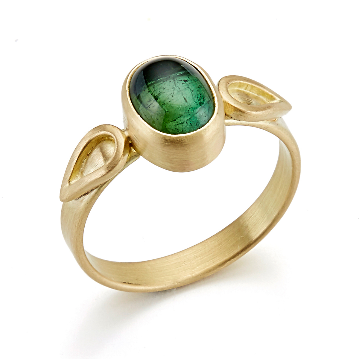 Monica Marcella Green Tourmaline Flame Ring