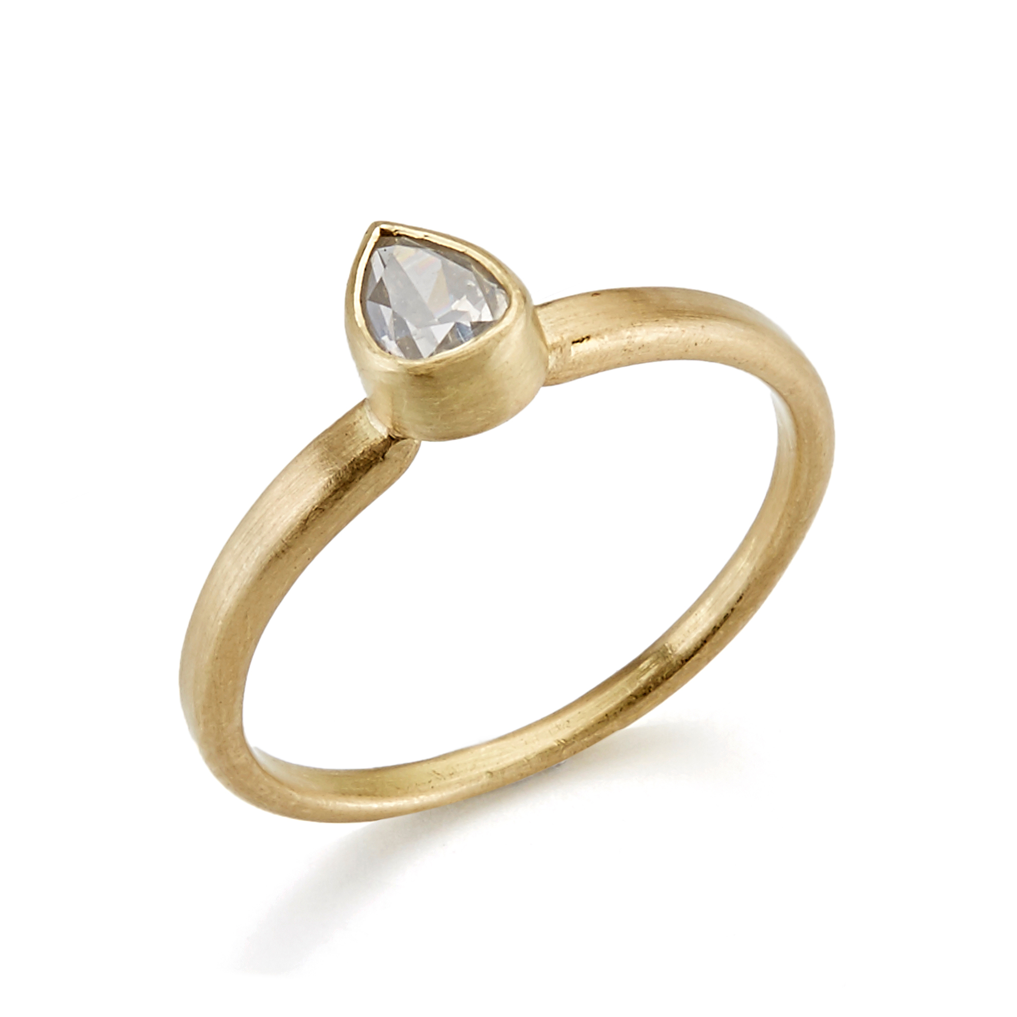 Monica Marcella Gray Diamond Teardrop Ring