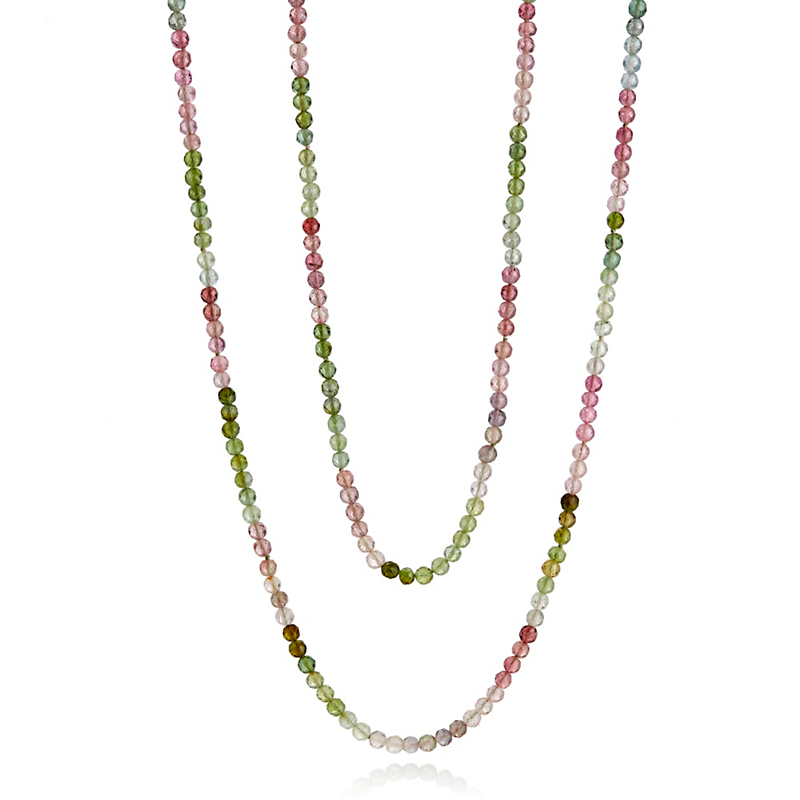 Gump's Pink & Green Gradient Tourmaline Rope Necklace