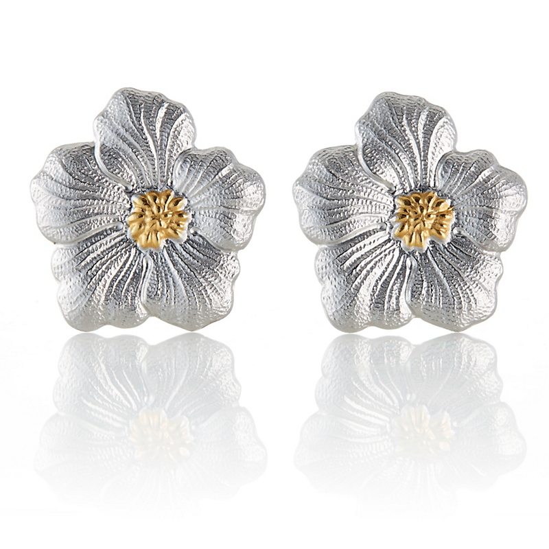 Buccellati Large Gardenia Blossom Stud Earrings