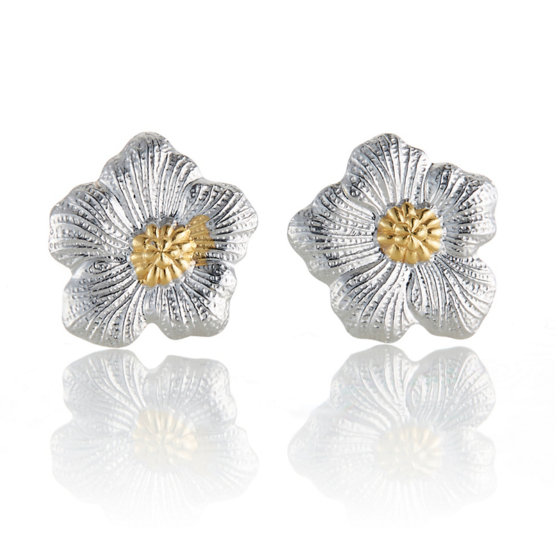 Buccellati Small Gardenia Blossom Stud Earrings