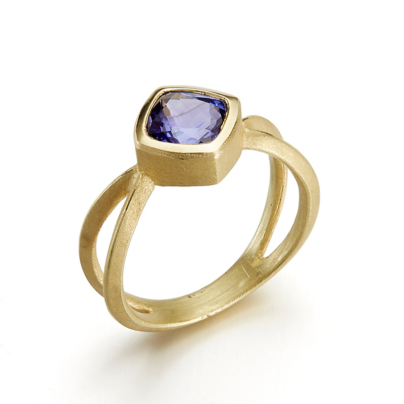 Barbara Heinrich Tanzanite Criss Cross Ring