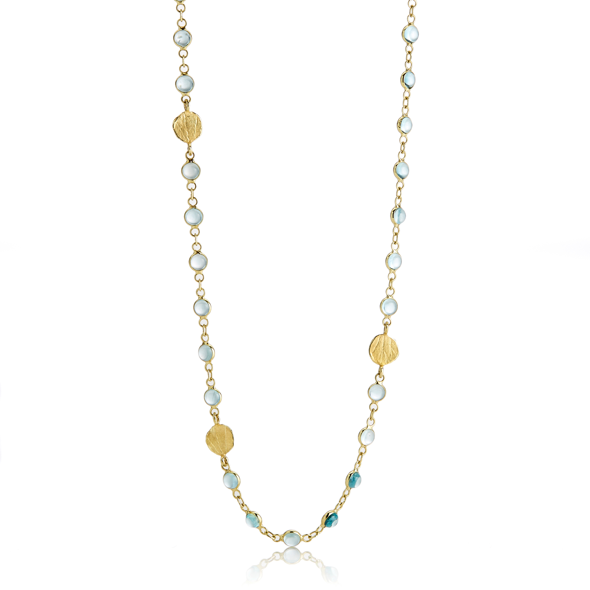 Barbara Heinrich Apatite & Gold Petal Necklace