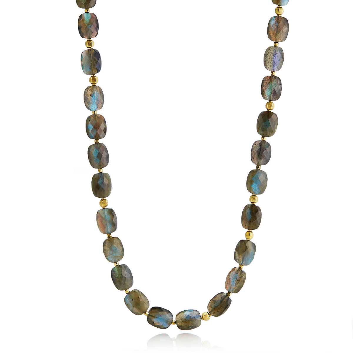 Barbara Heinrich Faceted Labradorite Long Necklace