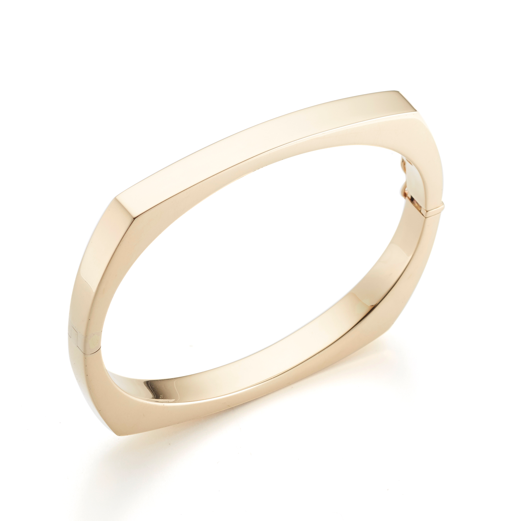 Square Gold Bangle