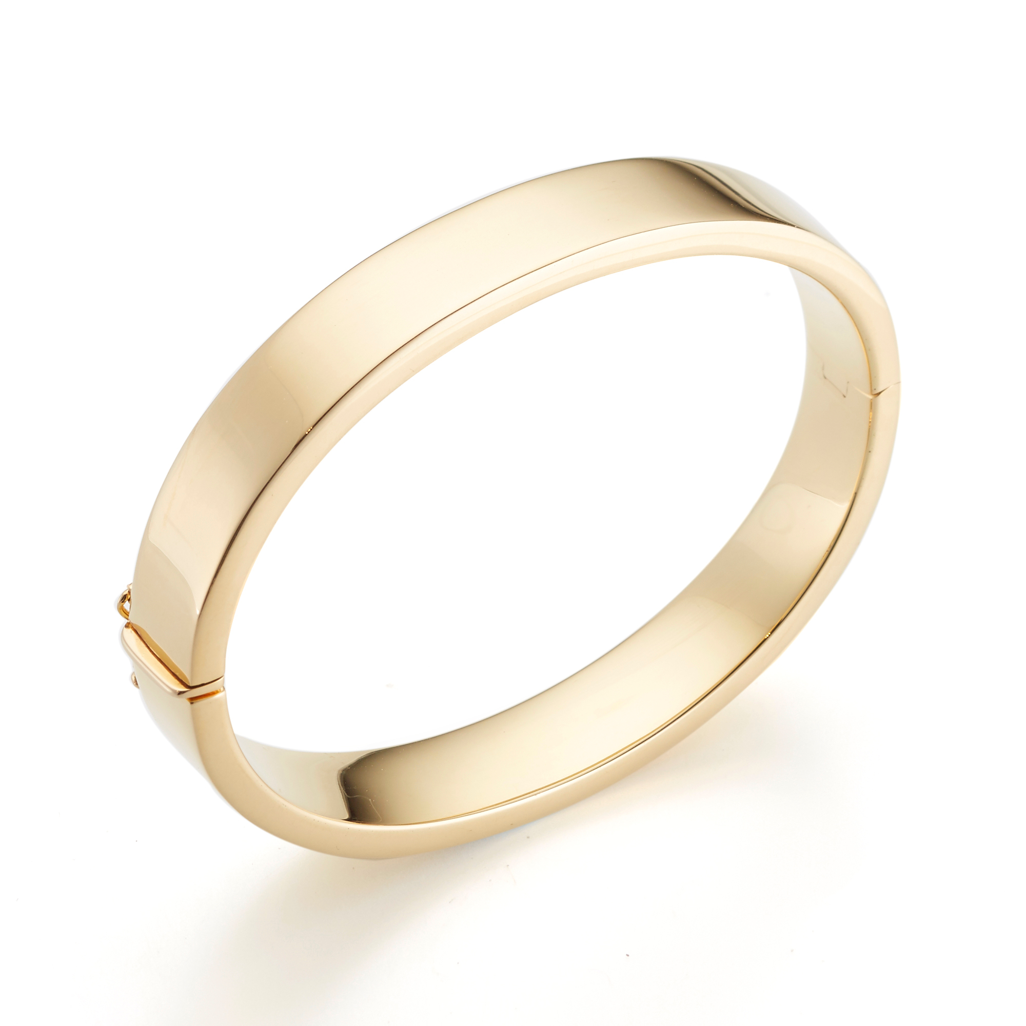 Thick Gold Polished Bangle