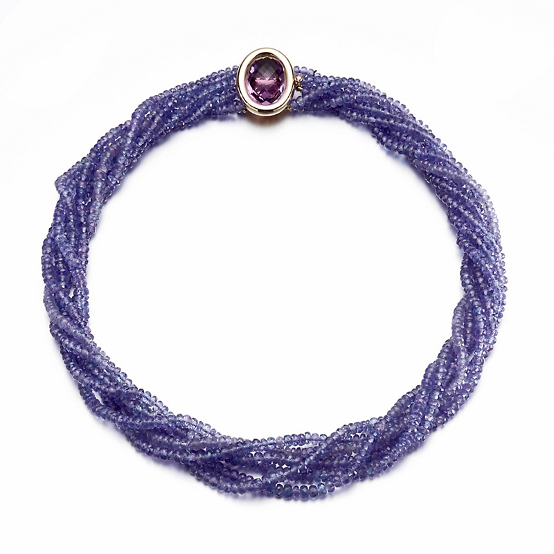 Gump's Faceted Tanzanite Amethyst Twist Necklace