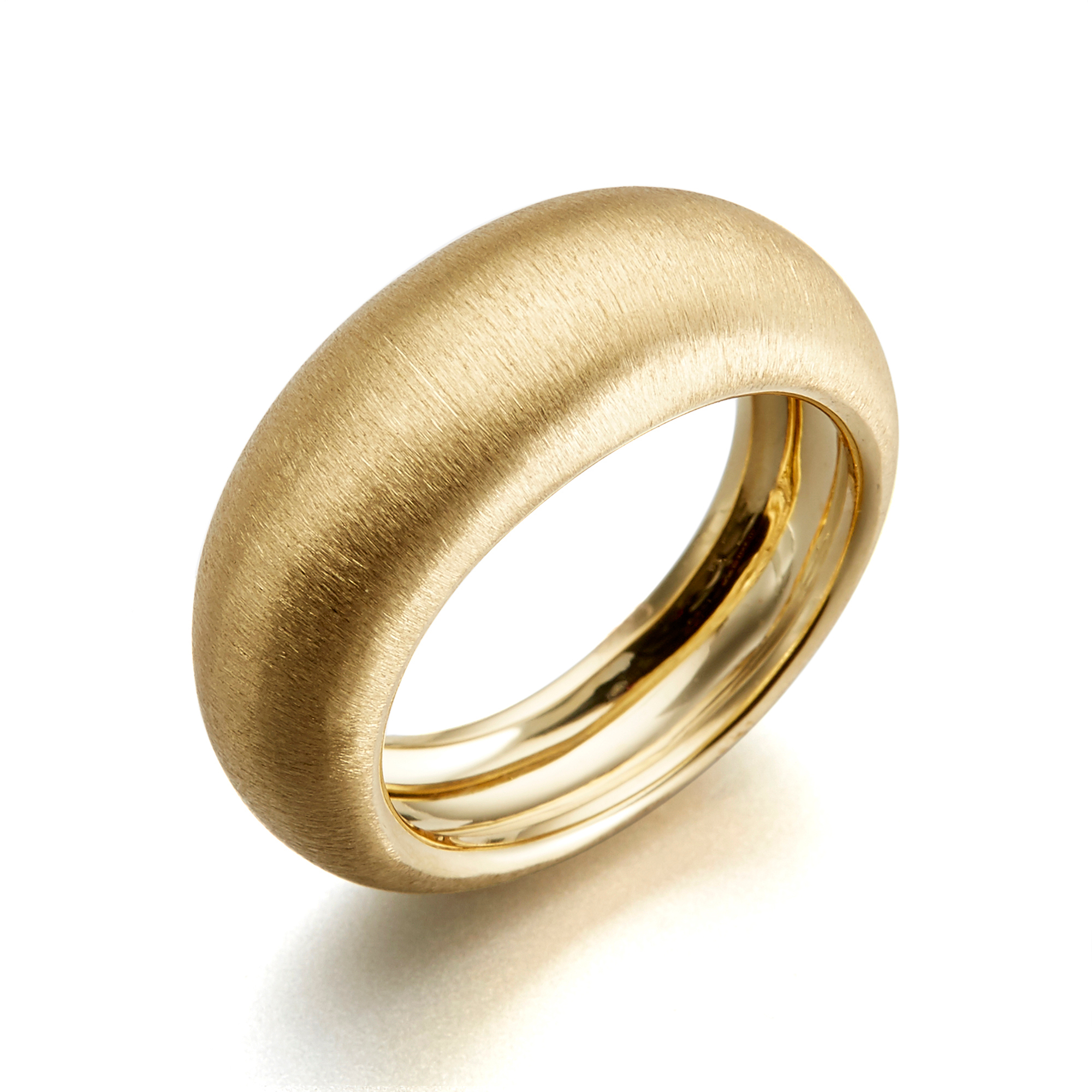 Aaron Henry Etched Tapered Dome Ring