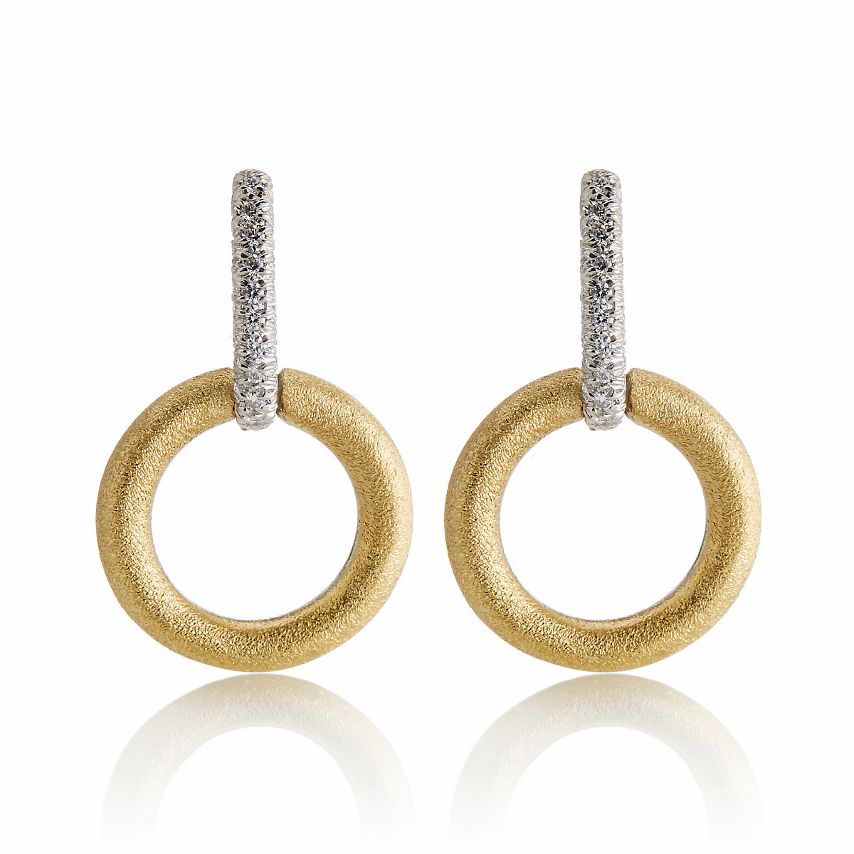 Aaron Henry Diamond Bar & Textured Hoop Earrings