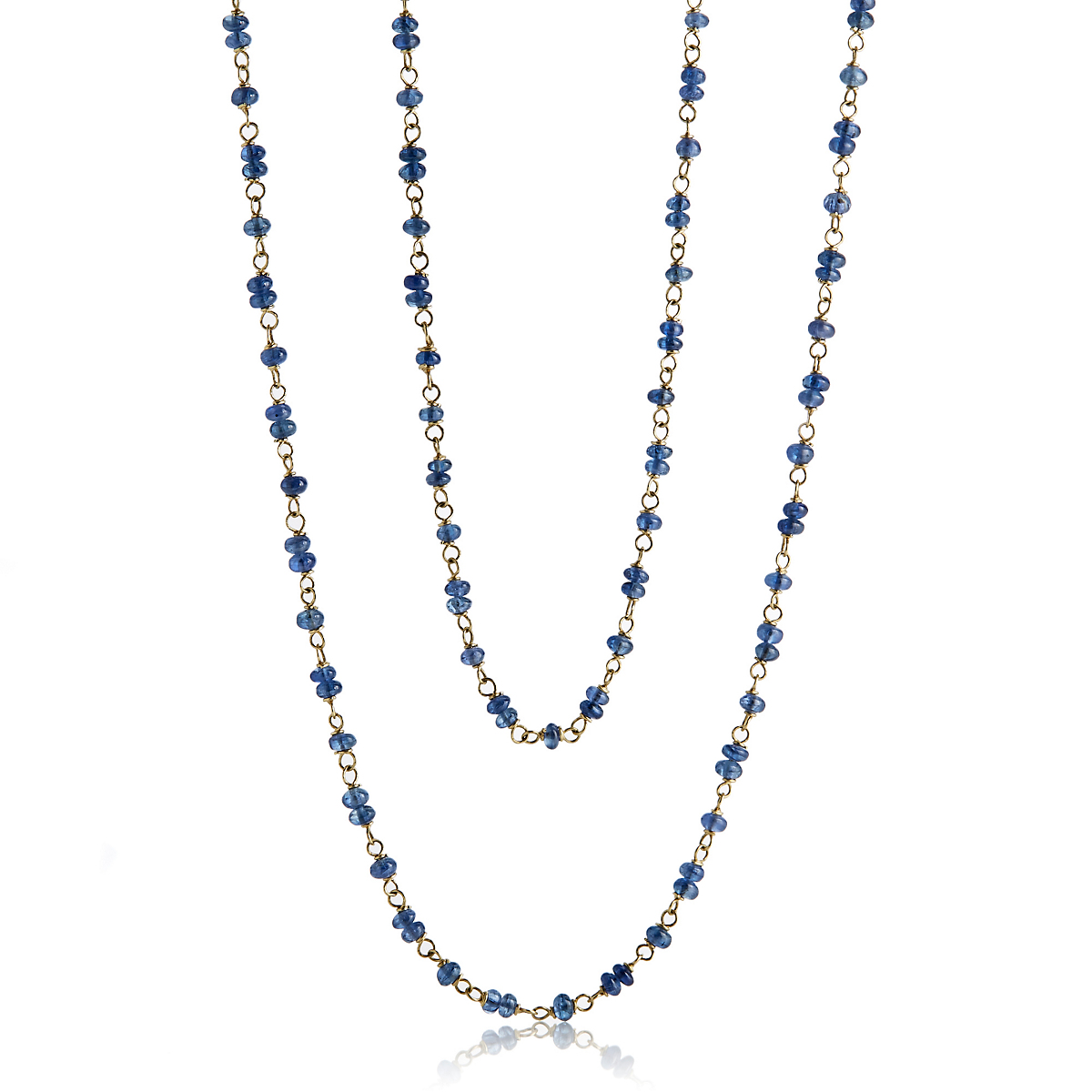 Adel Chefridi Sapphire Beads & Gold Necklace