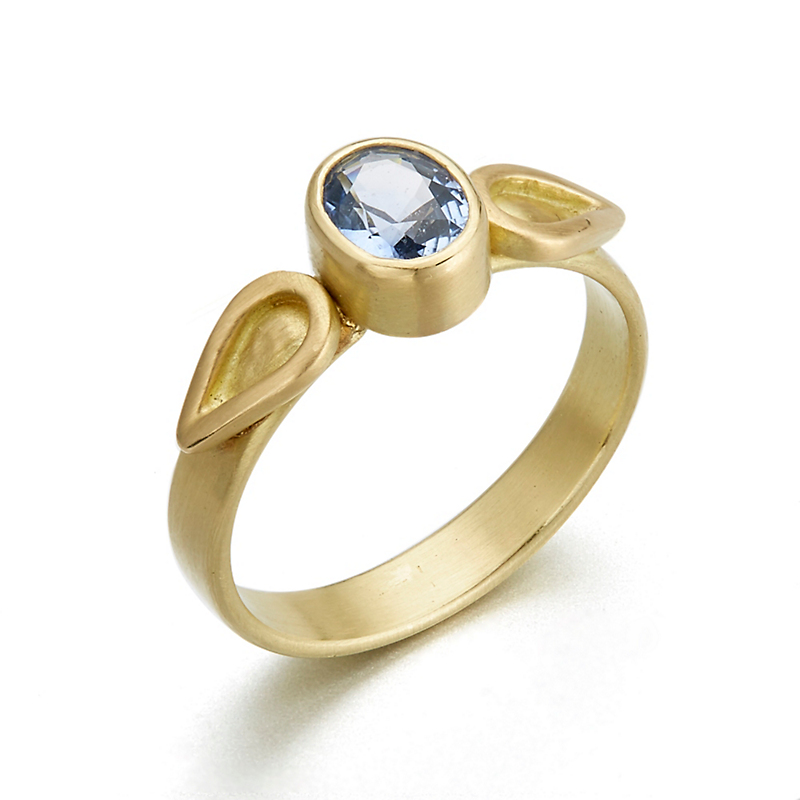 Monica Marcella Faceted Sapphire Flame Ring