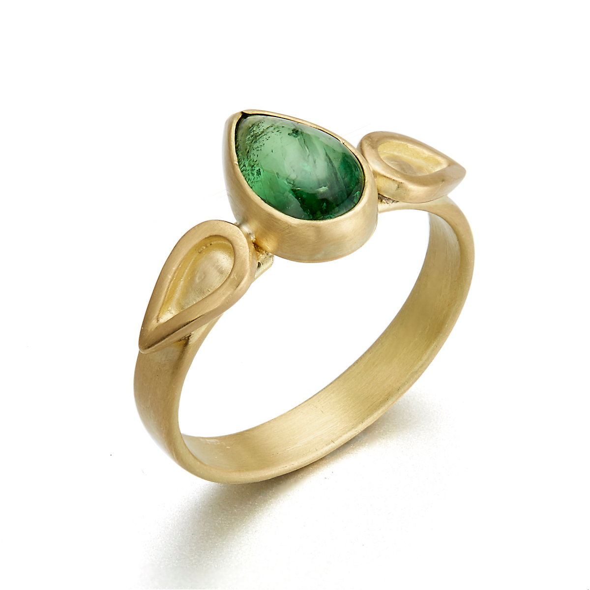 Monica Marcella Tsavorite Tear Flame Ring