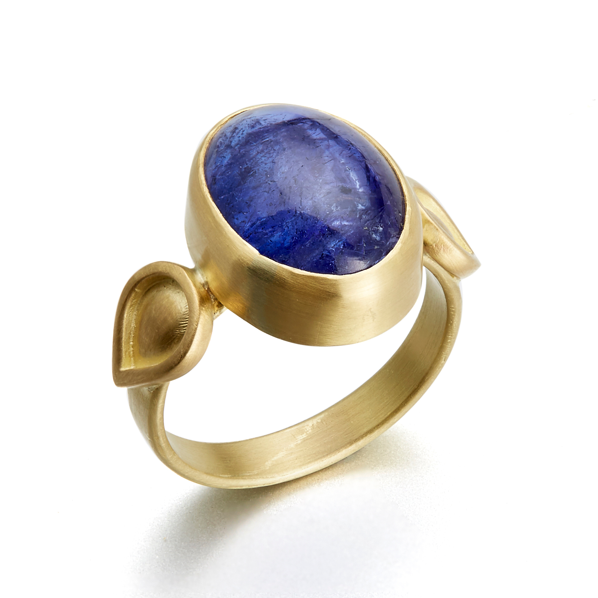 Monica Marcella Tanzanite Flame Ring