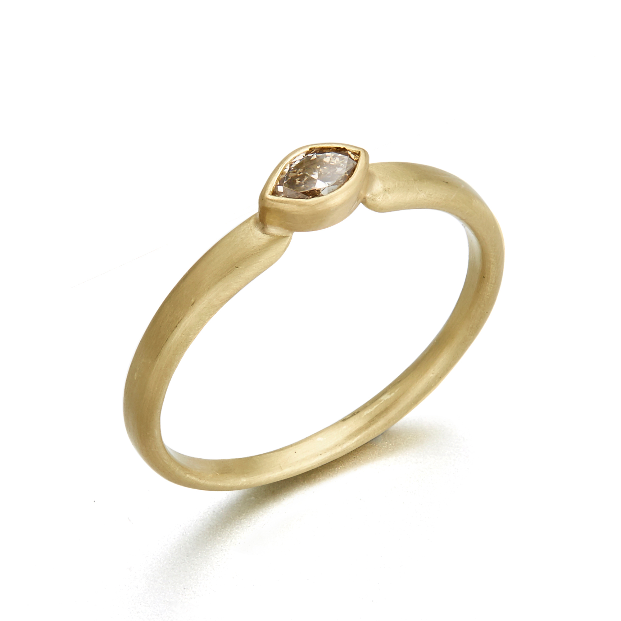 Monica Marcella Diamond Marquise Tapered Ring
